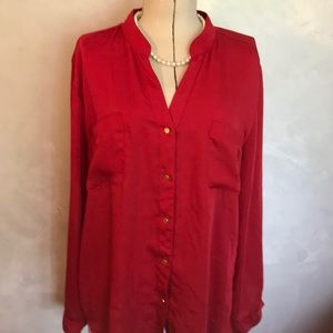 3/$25 Chico's Silk Top Red 3